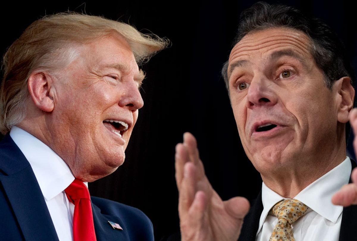 President Donald Trump; New York Governor Andrew Cuomo  (AP/Getty/Salon)