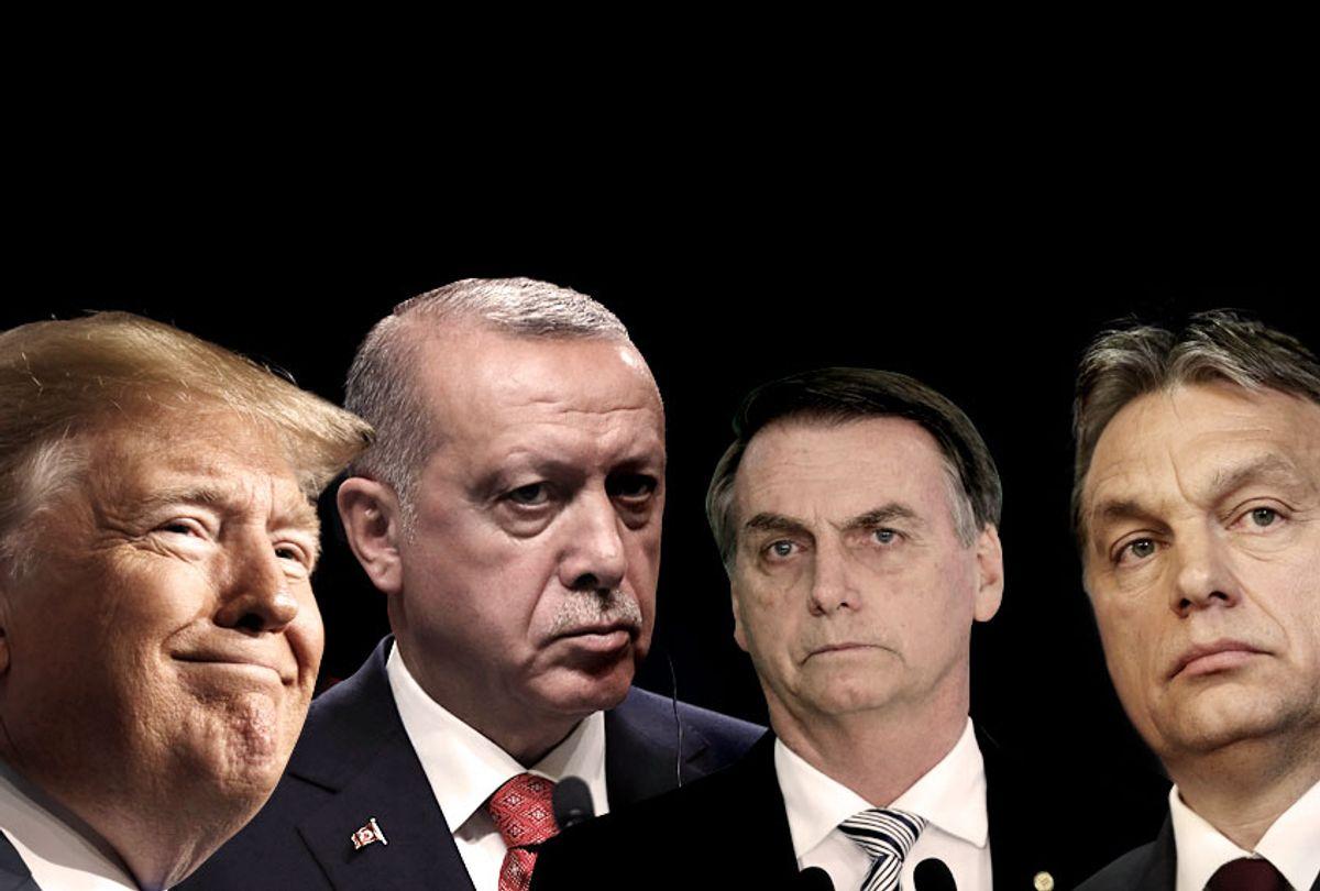 President Donald Trump; Turkey's President Recep Tayyip Erdogan; Brazil's President Jair Bolsonaro; Hungary's Prime Minister Viktor Orban (AP/Getty/Salon)
