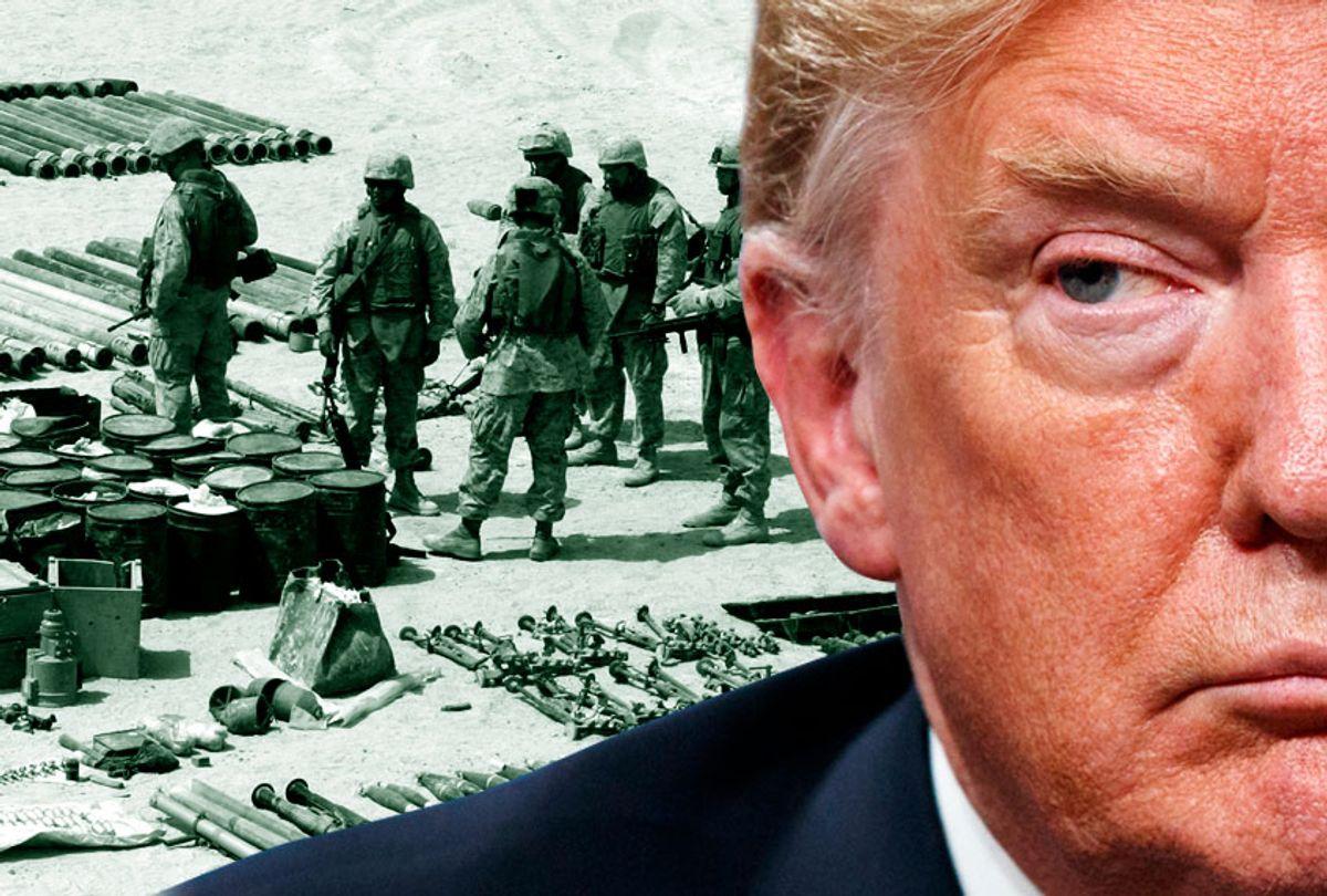 Donald Trump; US Marines in Iraq's al-Anbar province (AP/Getty/Salon)