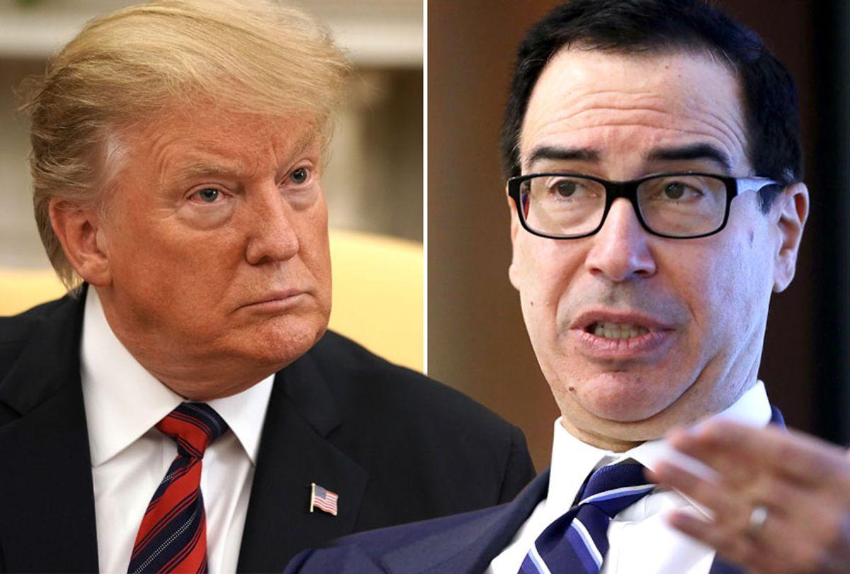 Donald Trump; Treasury Secretary Steven Mnuchin (Getty/Salon)