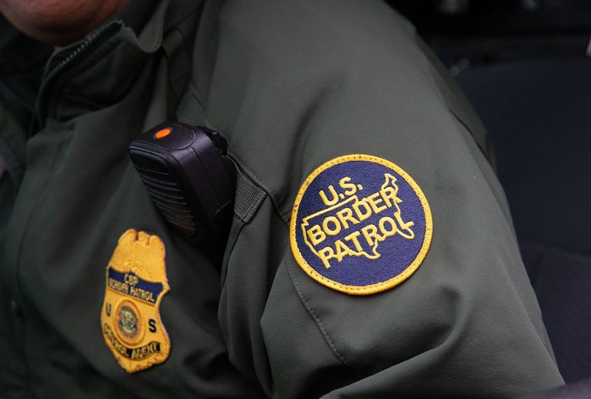 This photo shows a US Border Patrol patch on a border agent's uniform in McAllen, Texas, on January 15, 2019.  (Suzanne Cordeiro/Afp/getty Images)