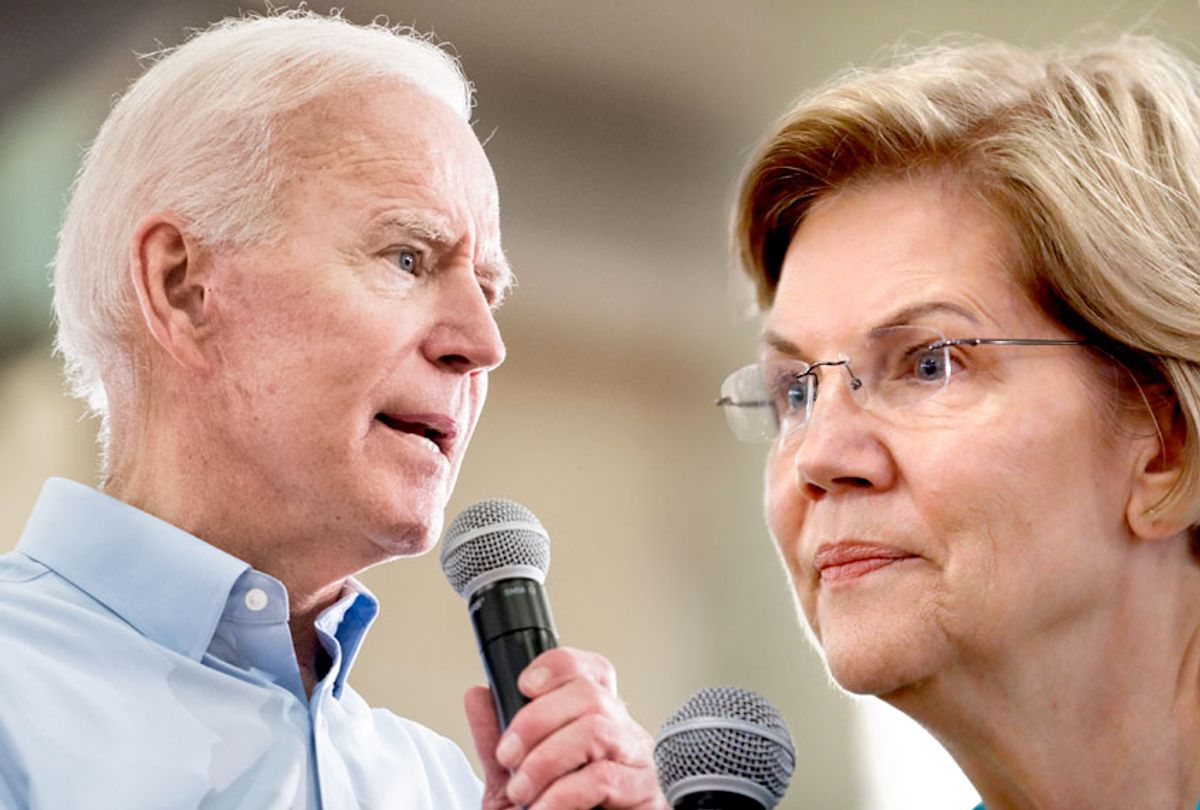 Joe Biden; Elizabeth Warren (Getty/AP/Salon)