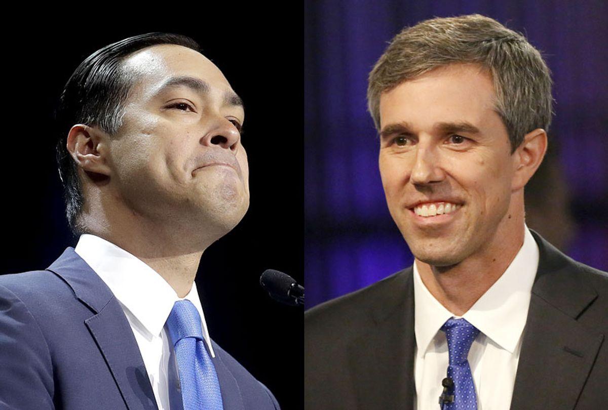 Democratic presidential candidates Julian Castro and Beto O'Rourke (AP/Jeff Chiu/Brynn Anderson)