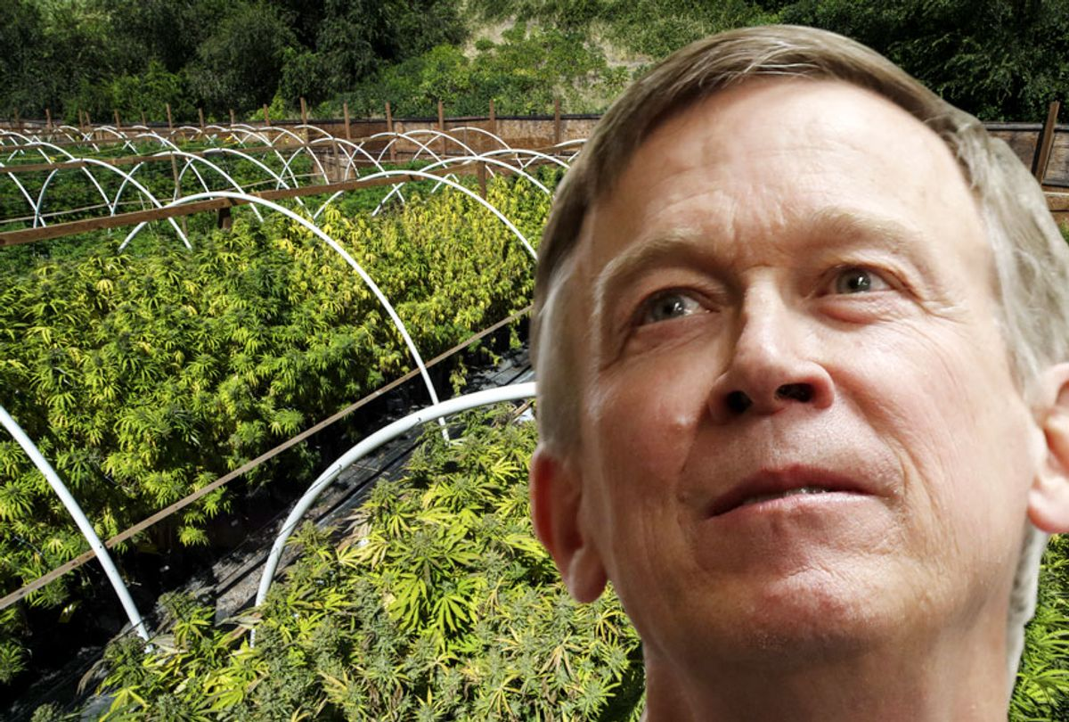 Democratic presidential candidate former Colorado Gov. John Hickenlooper  (AP/Getty/Salon)