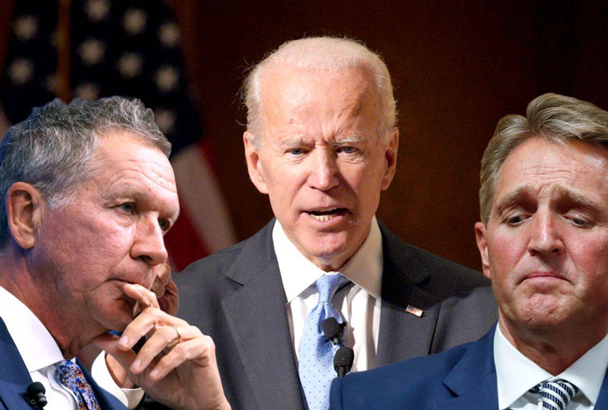 Gov. John Kasich; Former Vice President Joe Biden; Sen. Jeff Flake (R-AZ) (AP/Getty/Salon)