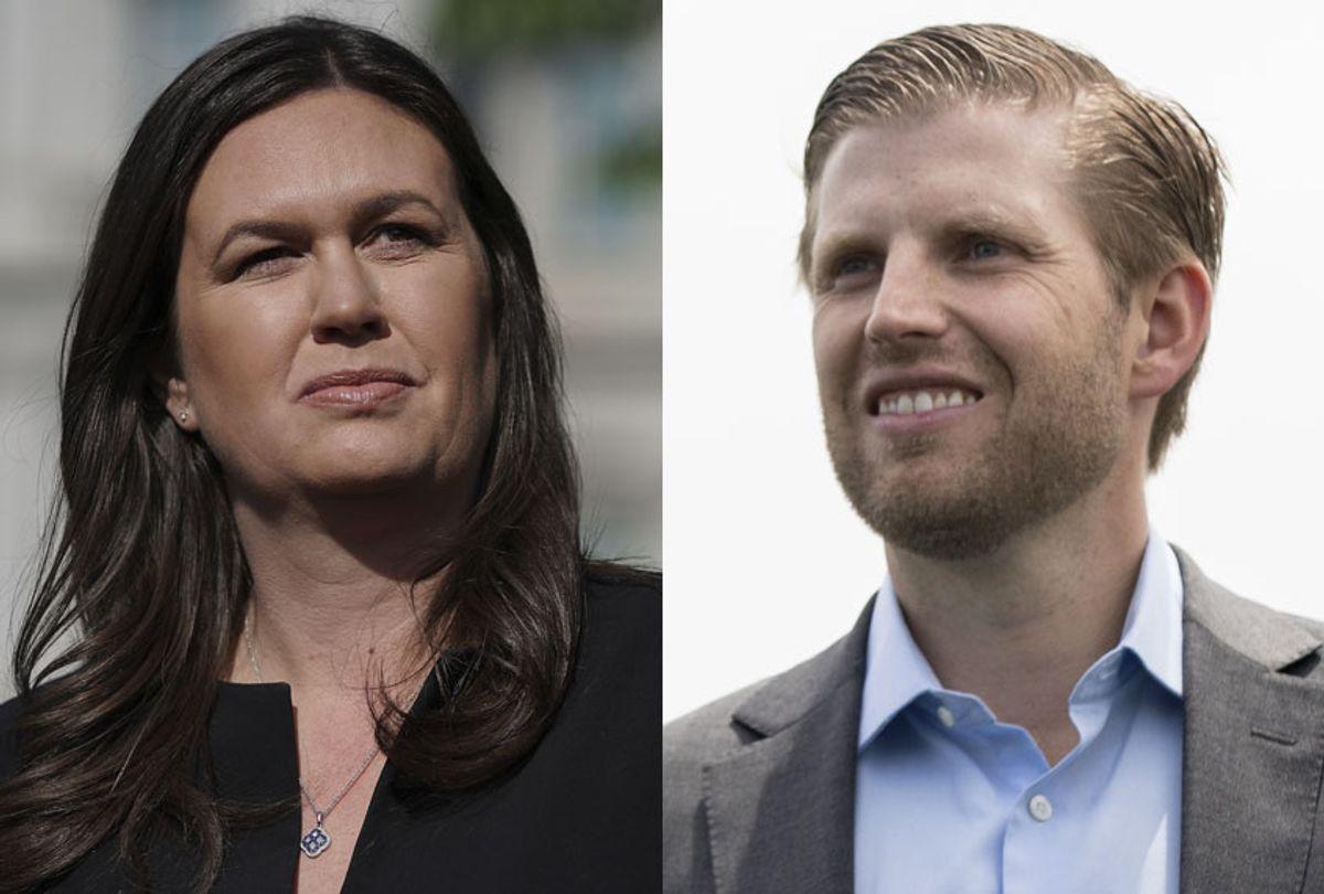 Sarah Huckabee Sanders; Eric Trump (Getty/Chip Somodevilla/Drew Angerer)