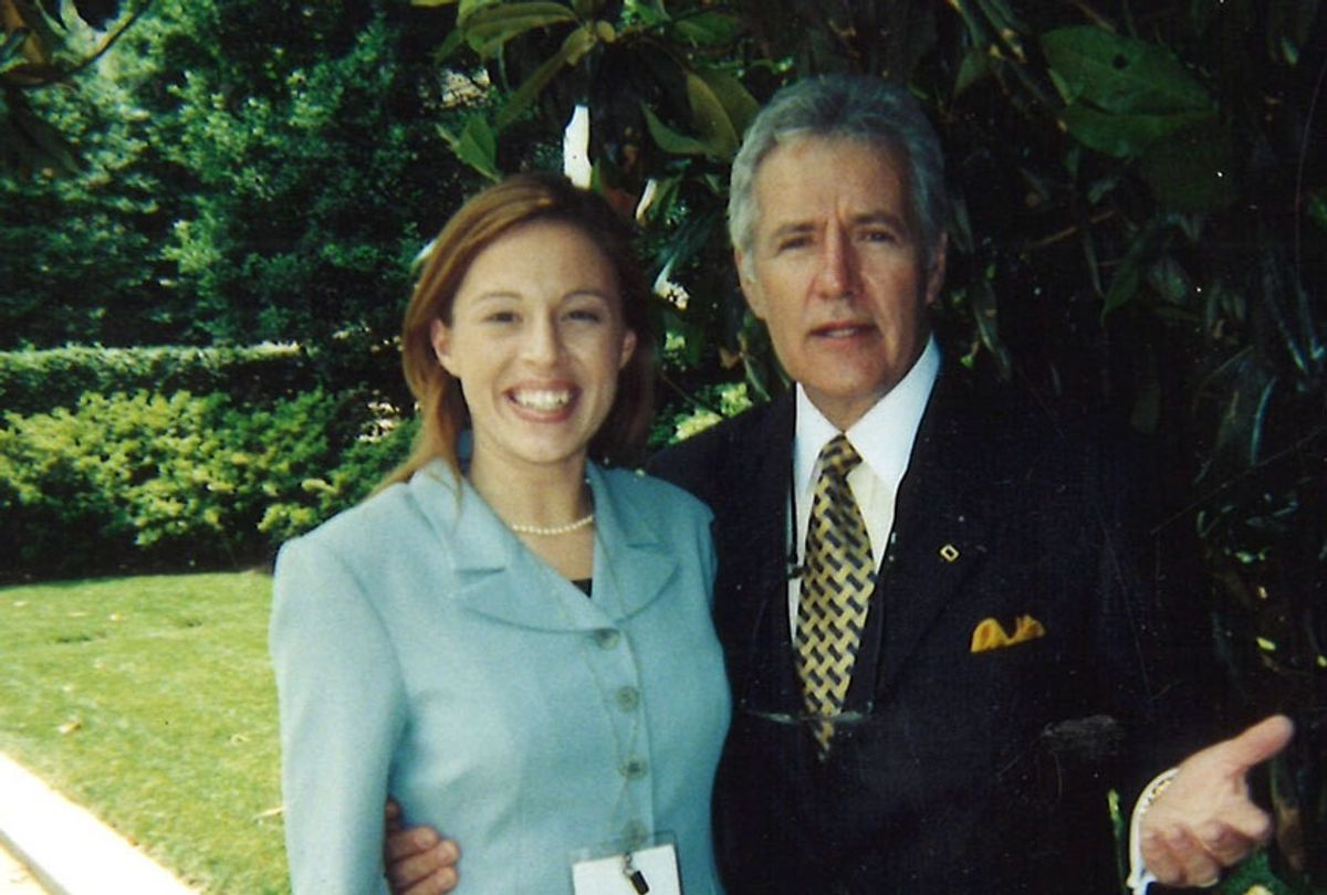 Meaghan Mulholland and Alex Trebek (Courtesy of the Author)