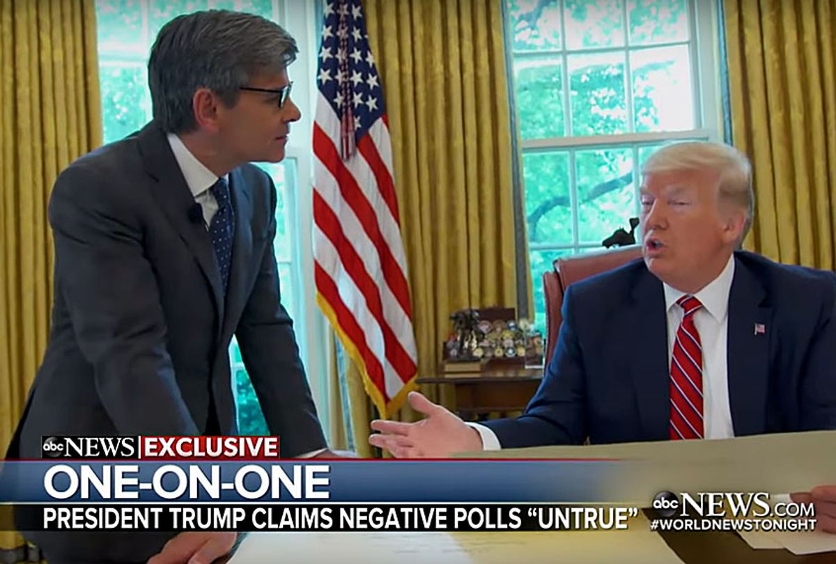 ABC News' Chief Anchor George Stephanopoulos interviews President Donald Trump (ABC)