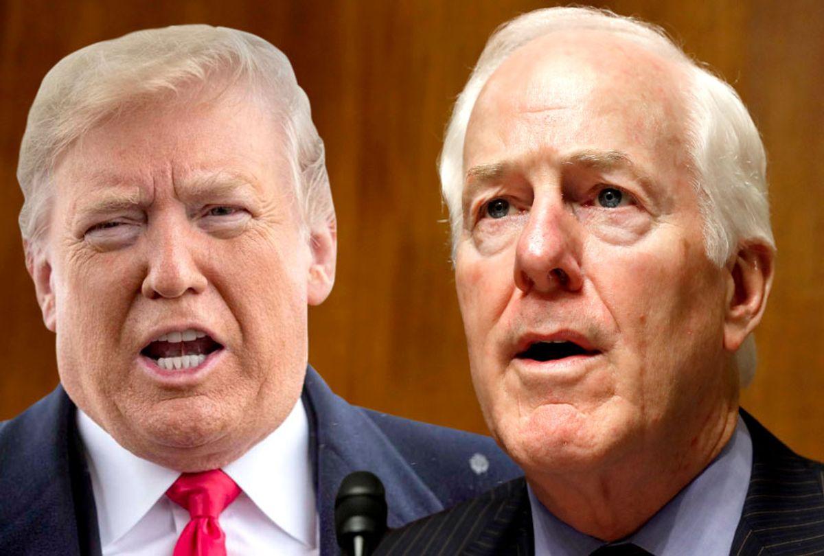 Donald Trump; John Cornyn (AP/Getty/Salon)
