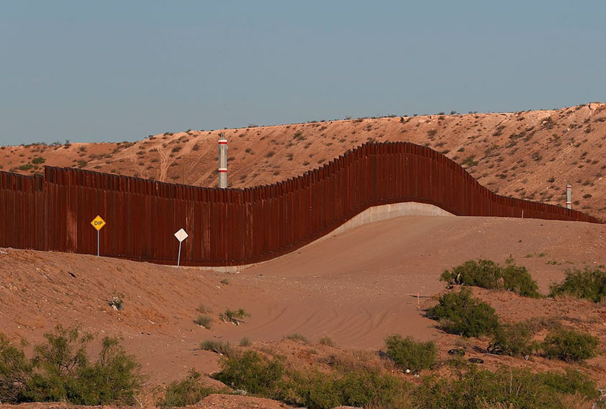 The border fence between the United States and Mexico is seen on June 03, 2019 in Sunland Park, New Mexico (Getty/Joe Raedle)