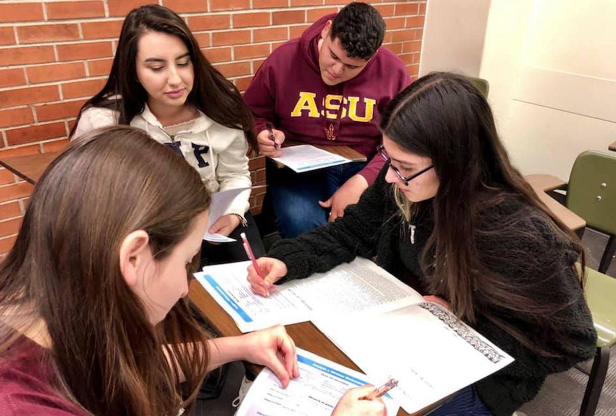 A study group as part of ASU's CAMP program. () (Photo courtesy of Seline Szkupinski Quiroga)