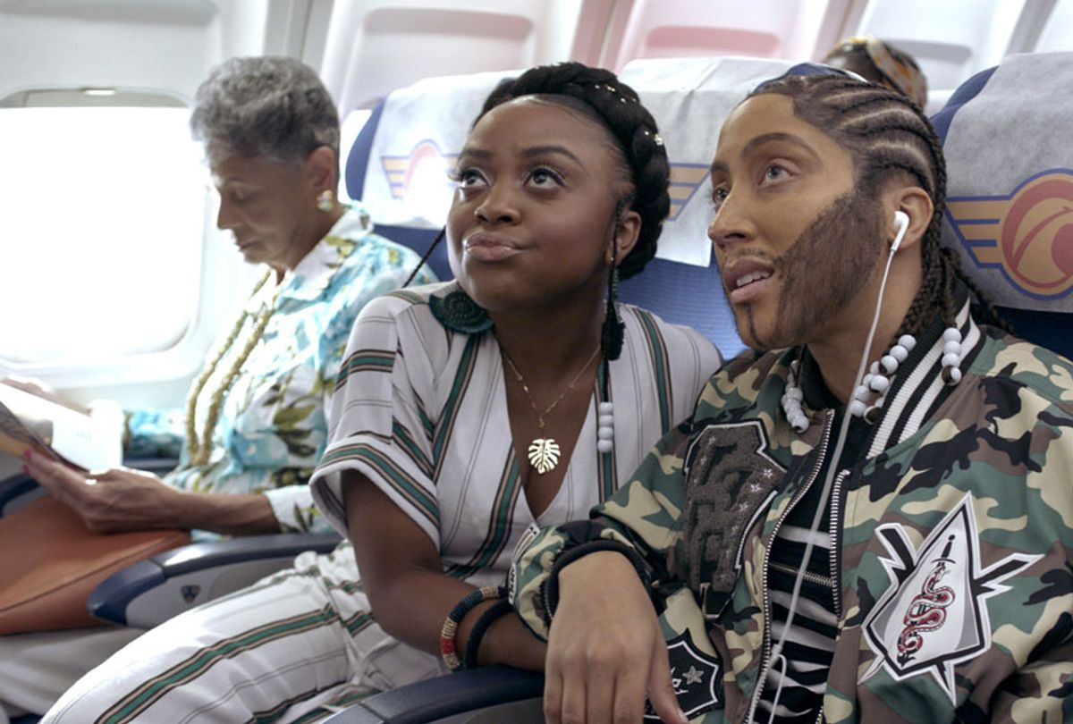"""Quinta Brunson and Robin Thede in """"A Black Lady Sketch Show"""" (Courtesy of HBO)"""