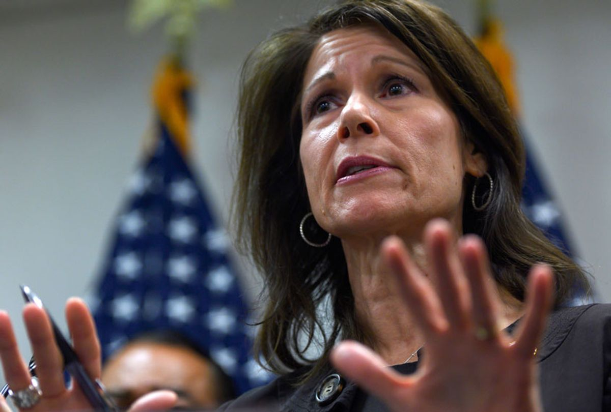 DCCC Chairwoman Rep. Cheri Bustos (D-IL) (Getty/Andrew Caballero-Reynolds)