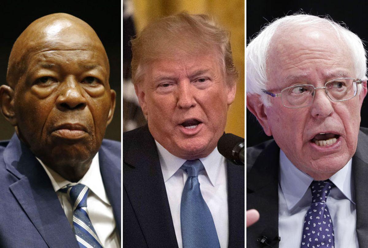 Elijah Cummings; Donald Trump; Bernie Sanders (AP/Getty)