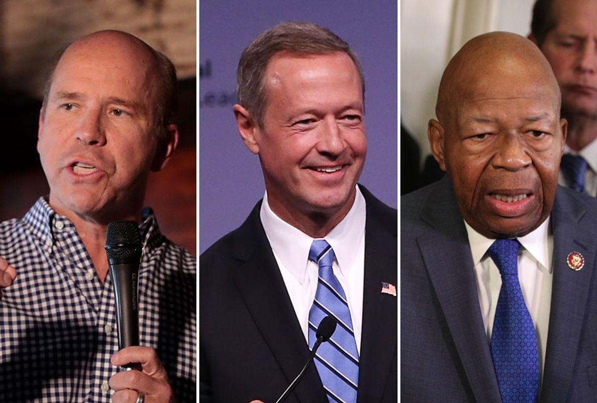 Rep. John Delaney (D-MD); Gov. Martin O'Malley; Rep. Elijah Cummings (D-MD) (AP/Getty)