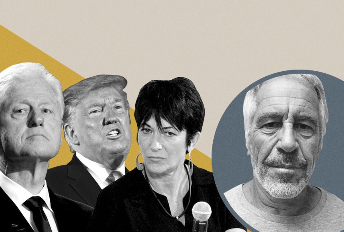 Bill Clinton; Donald Trump; Ghislaine Maxwell; Jeffrey Epstein (AP/Getty/Salon)