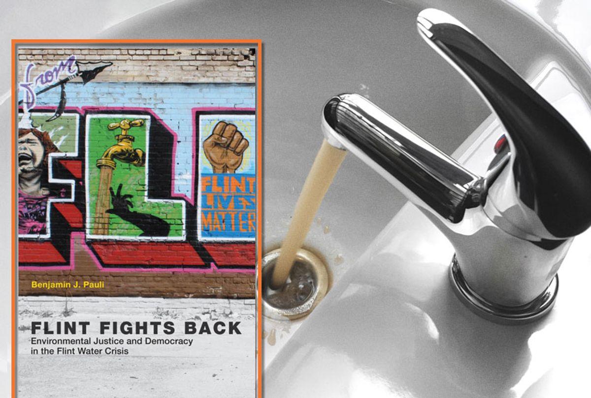 """""""Flint Fights Back: Environmental Justice and Democracy in the Flint Water Crisis"""" by Benjamin J. Pauli (MIT Press/Getty/ognianm)"""