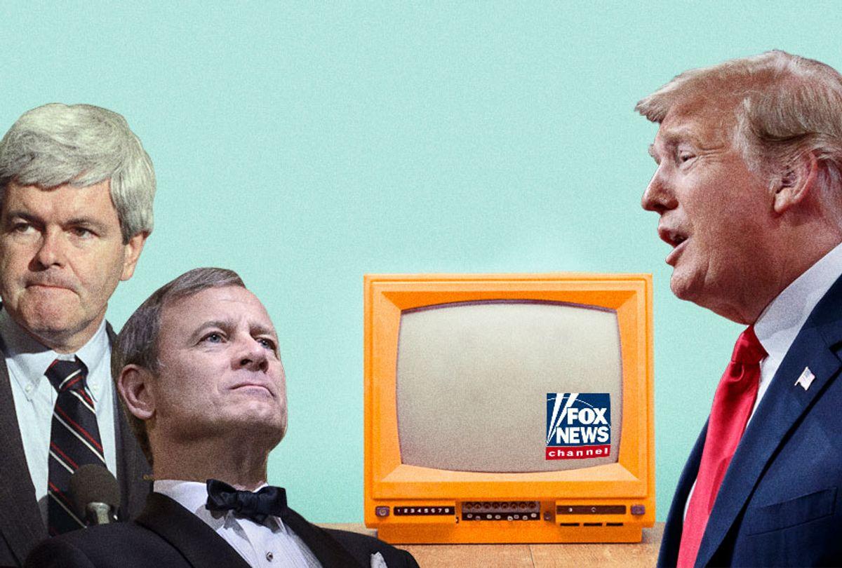 Newt Gingrich; John Roberts; Donald Trump (AP/Getty/Salon)