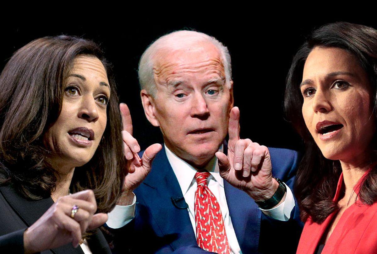 Kamala Harris; Joe Biden; Tulsi Gabbard (AP/Getty/Salon)