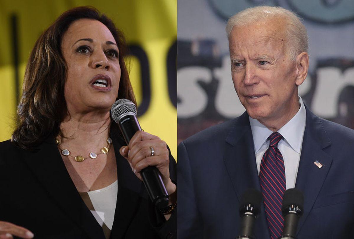 Sen. Kamala Harris; Former Vice President Joe Biden (AP/Susan Walsh/Scott Olson)