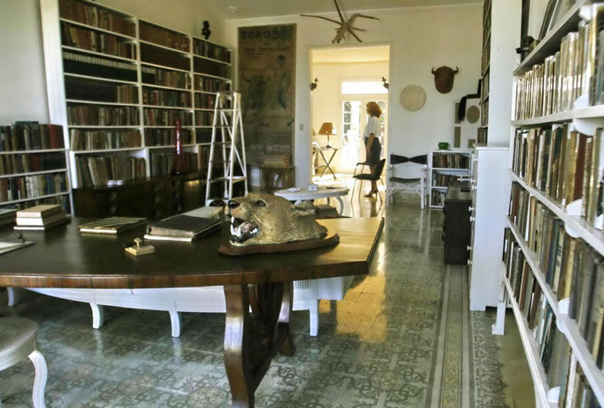 The study of the Finca Vigia colonial residence, 21 km from Havana, where US writer Ernest Hemingway lived for 21 years, as seen 15 January, 2007.  (STR/AFP/Getty Images)