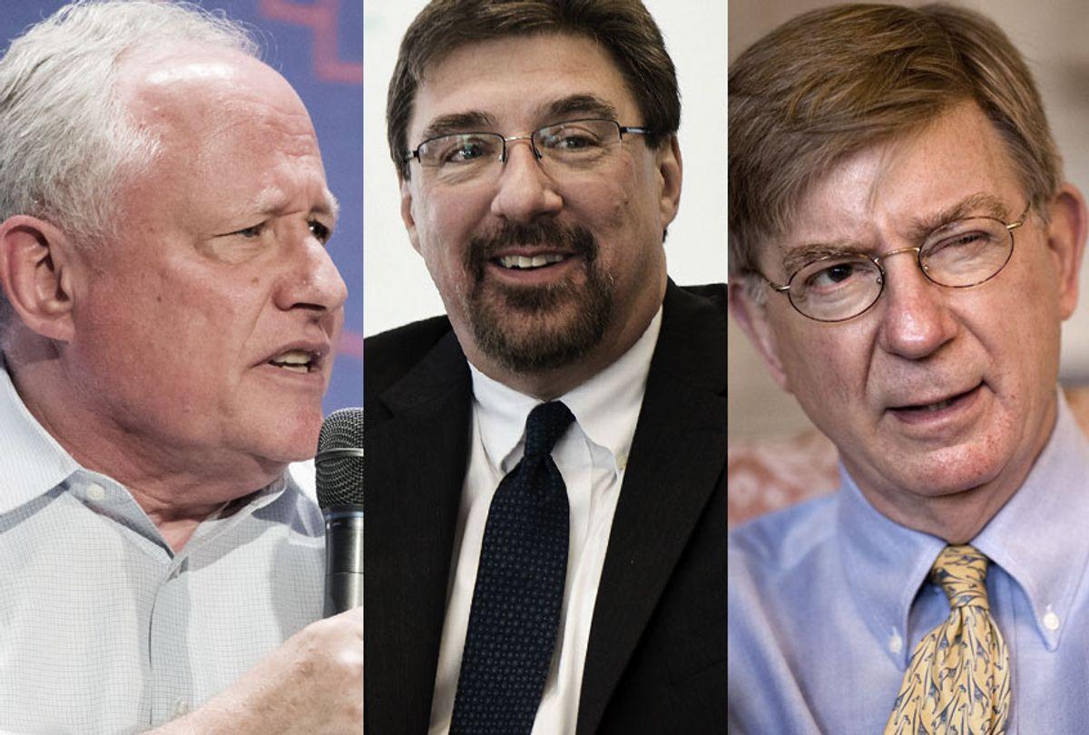 Bill Kristol; Tom Nichols; George Will (AP/Harvard/Salon)