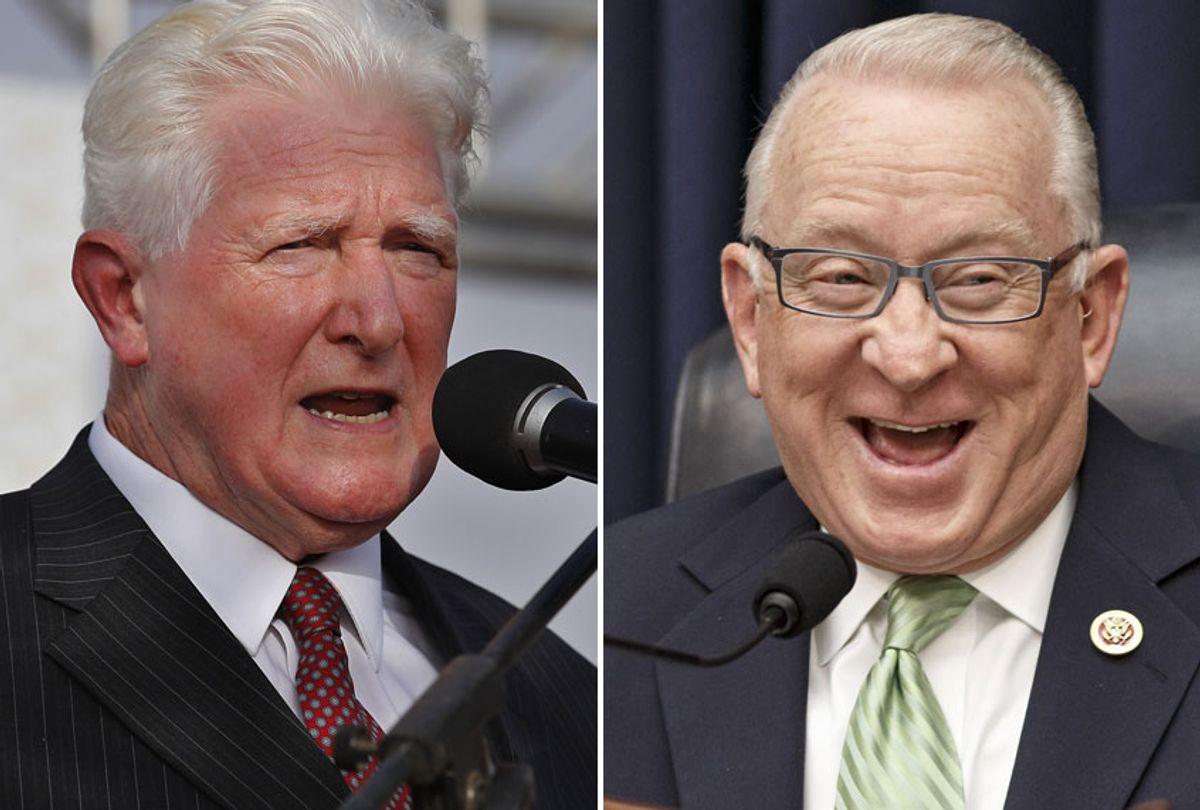 Jim Moran; Buck McKeon (AP/Hussein Malla/J. Scott Applewhite)