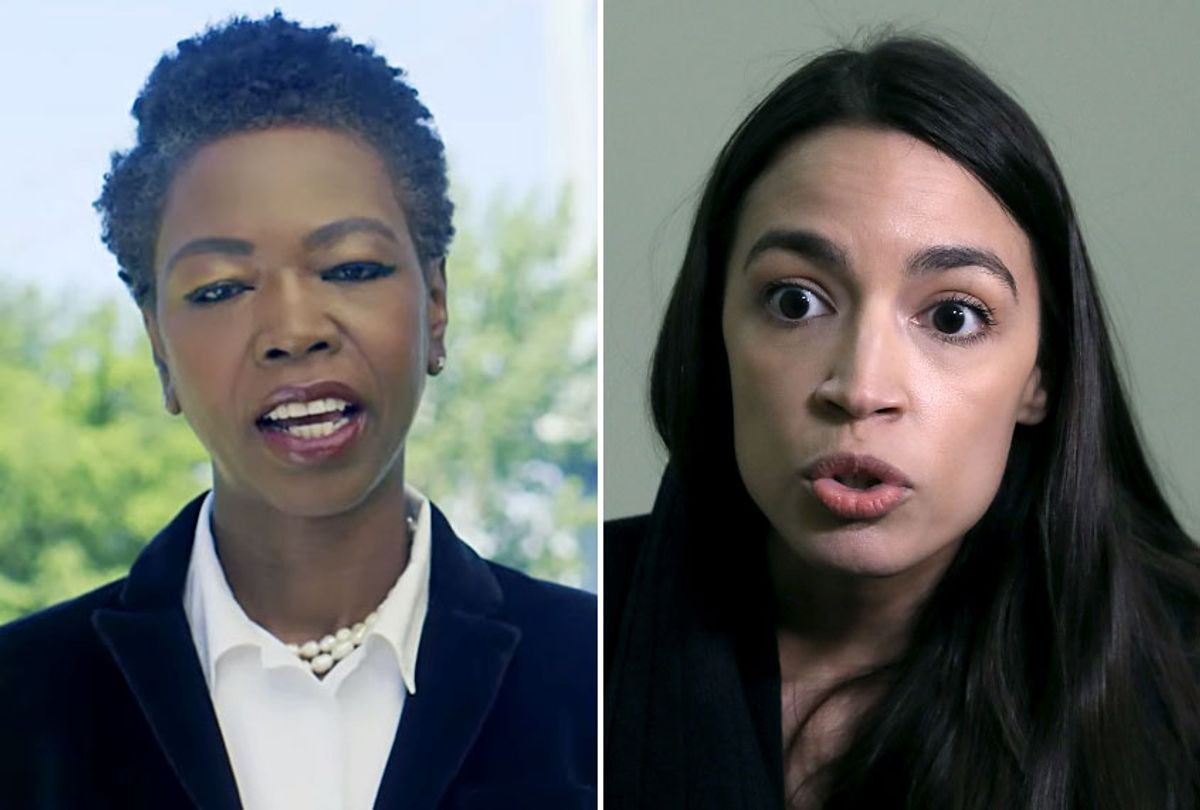 Scherie Murray; Rep. Alexandria Ocasio-Cortez (D-NY) (YouTube/Scherie Murray/Getty/Mark Wilson)