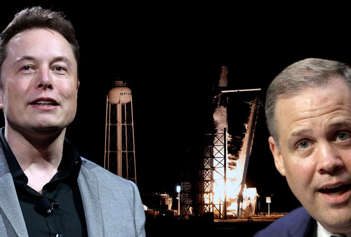 Elon Musk; James Bridenstine (Getty/Salon)