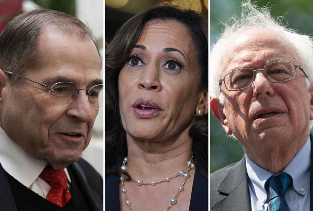 Jerry Nadler; Kamala Harris; Bernie Sanders (AP/Getty)