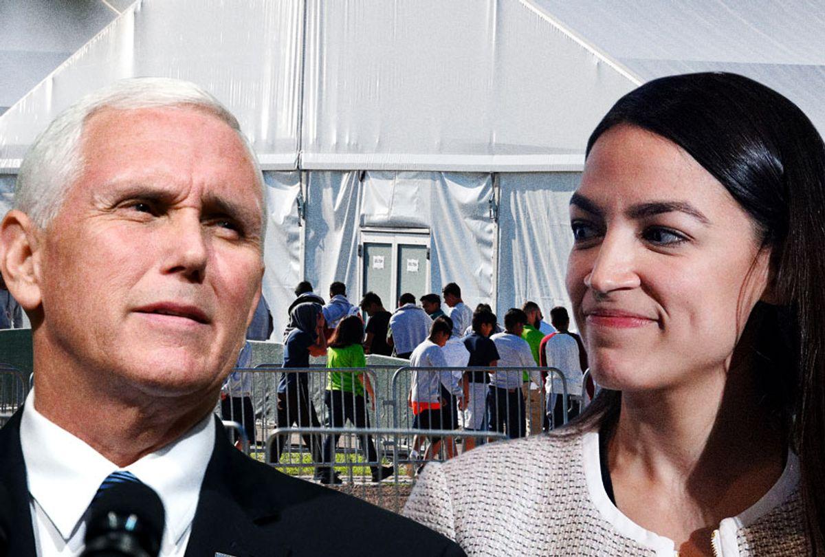 Mike Pence; Alexandria Ocasio-Cortez (AP/Getty/Salon)