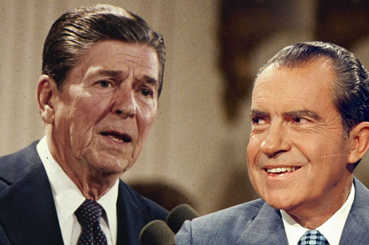 Ronald Reagan; Richard Nixon (AP/Salon)