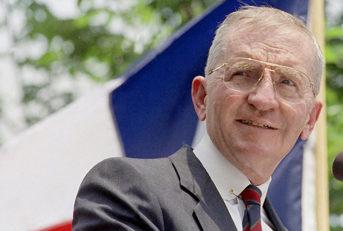 H. Ross Perot in Austin, Texas at rally in May 1992 (AP Photo)