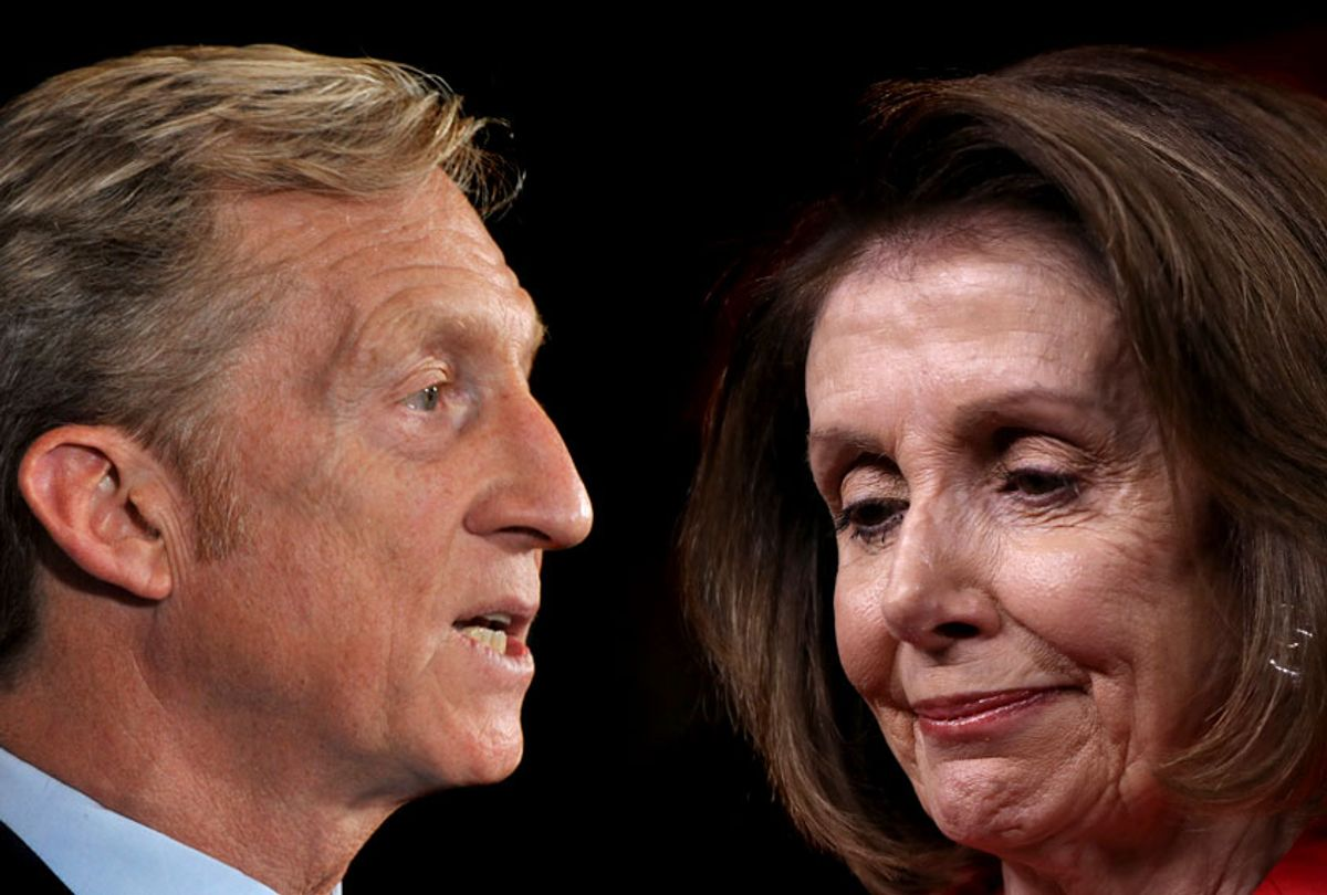 Tom Steyer; Nancy Pelosi (Getty/Salon)