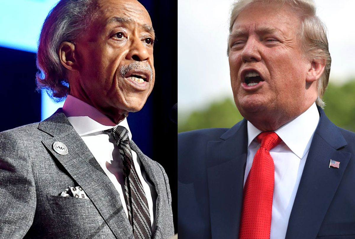 Reverend Al Sharpton; President Donald Trump (Getty/Paras Griffin/Roberto Schmidt)