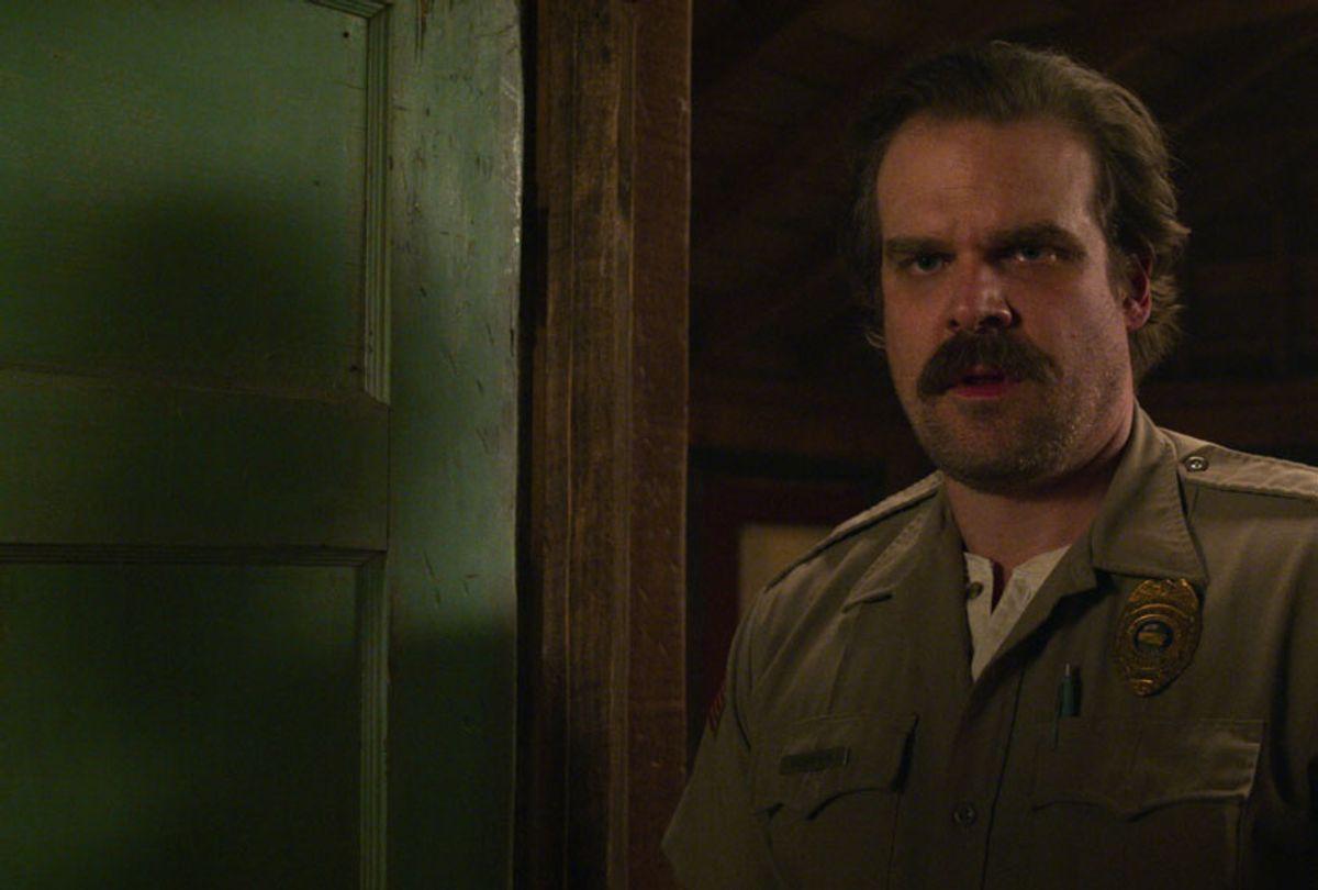 "David Harbour in ""Stranger Things"" (Netflix)"