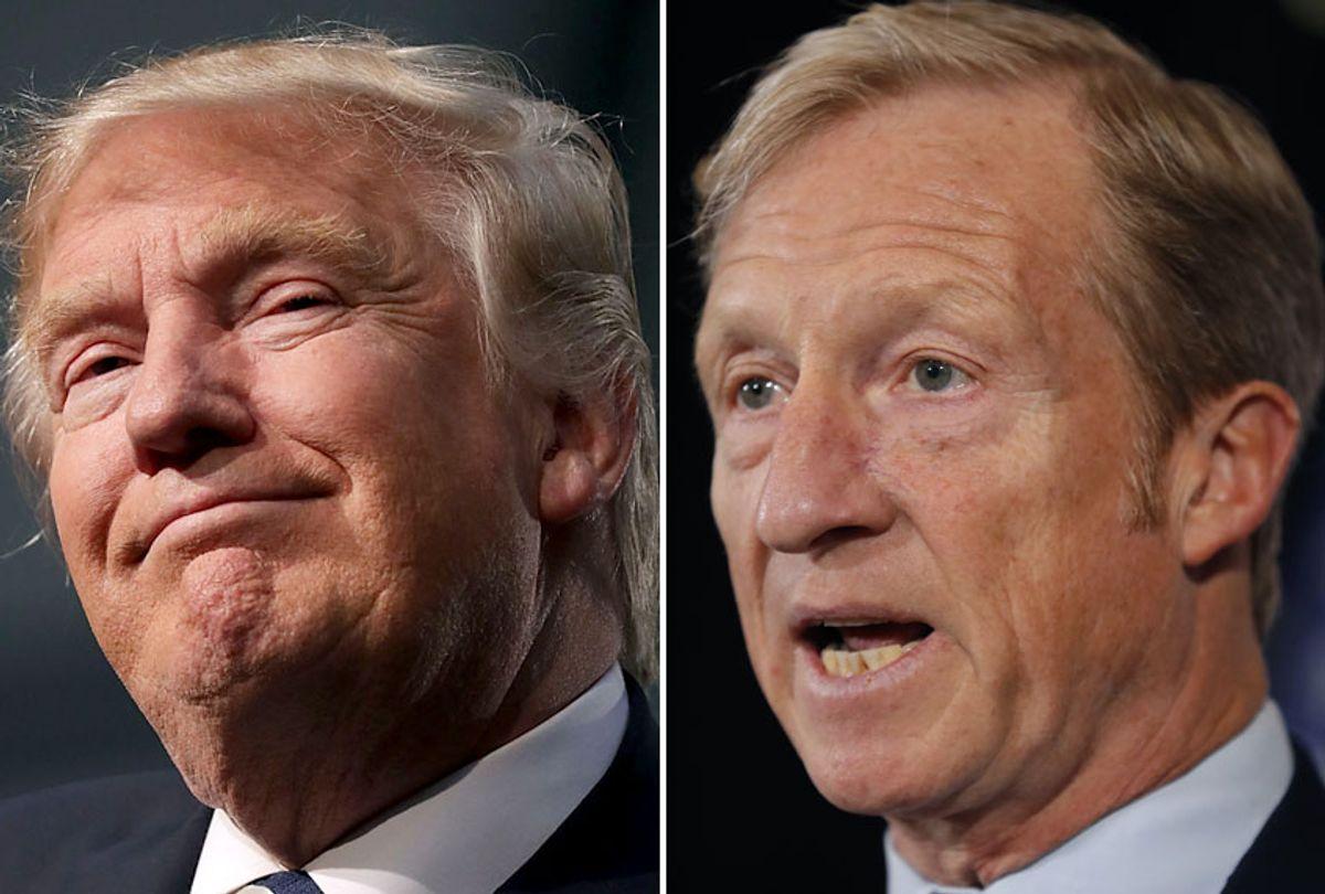 Donald Trump; Tom Steyer  (Getty/Chip Somodevilla/AP/Charlie Neibergall)