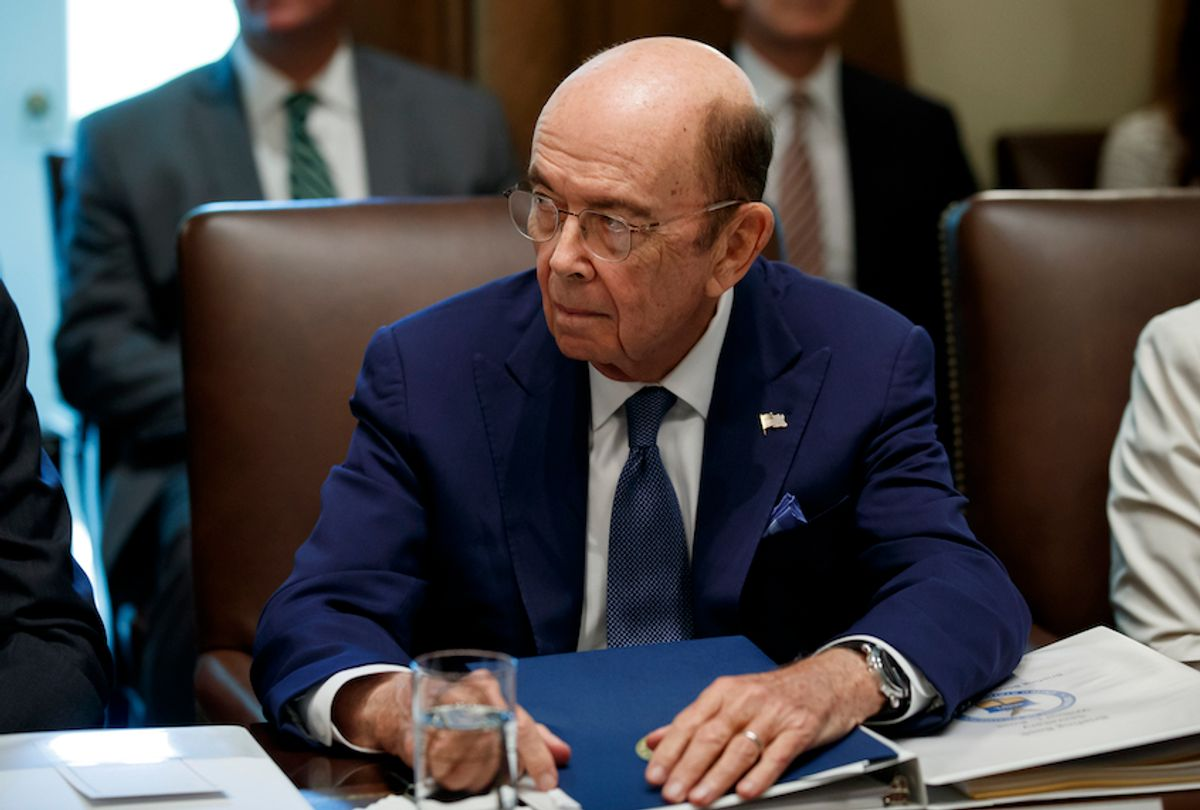 Commerce Secretary Wilbur Ross listens during a Cabinet meeting in the Cabinet Room of the White House, Tuesday, July 16, 2019, in Washington. (AP Photo/Alex Brandon) (AP Photo/Alex Brandon)