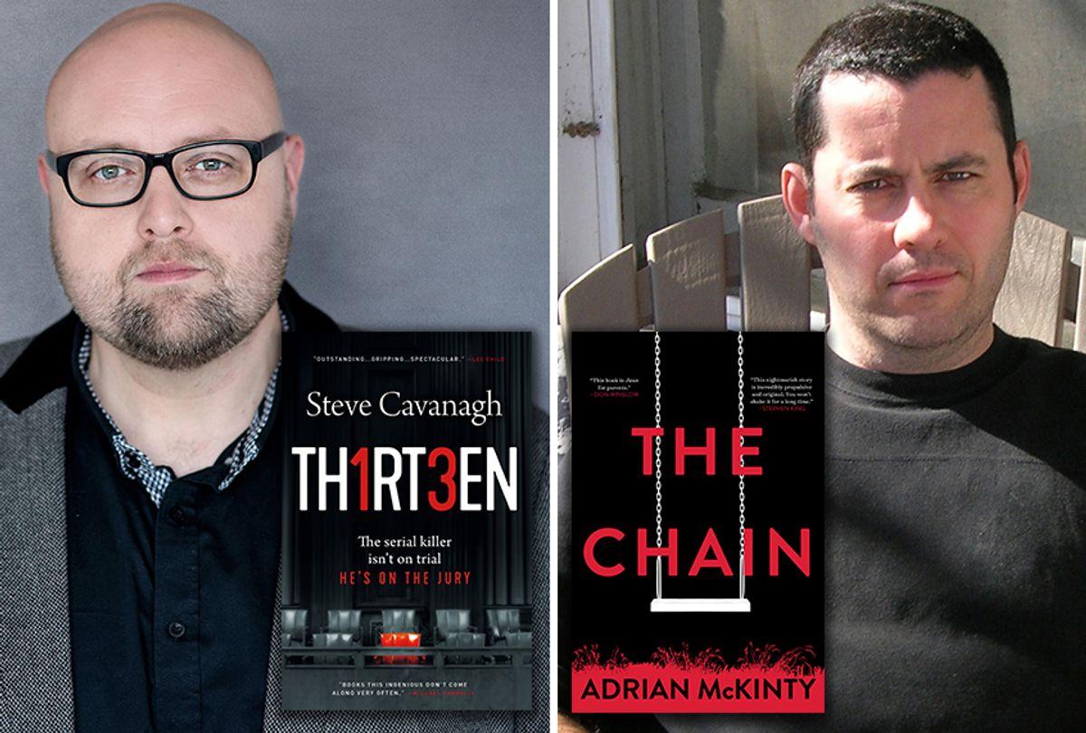 """Thirteen"" by Steve Cavanagh and ""The Chain"" by Adrian McKinty (Kelly M Photography/Leah Garrett)"