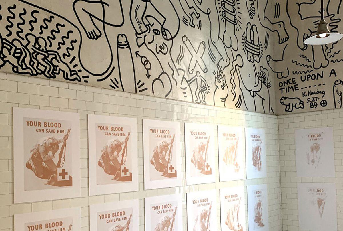 Installation view, Keith Haring Bathroom, The Center, New York, NY (2019) (Jordan Eagles)