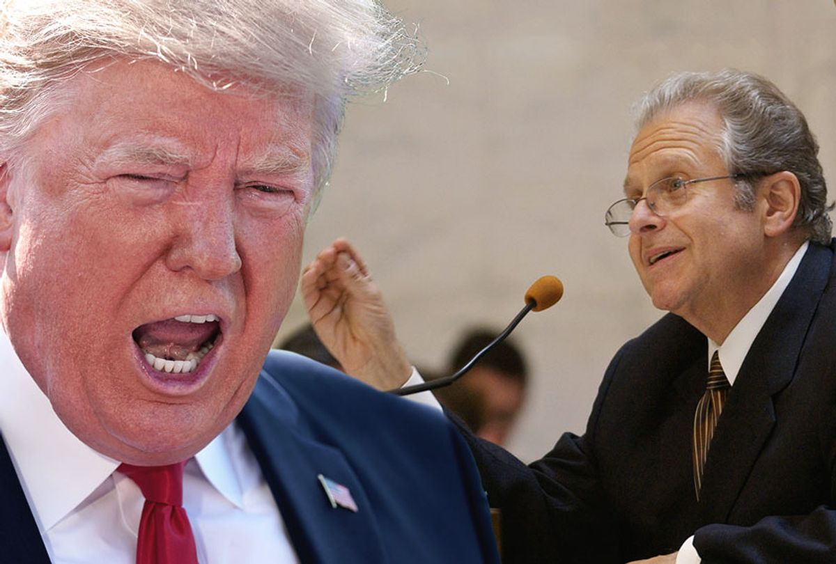 Laurence Tribe; Donald Trump (Getty/Chip Somodevilla/Pool)