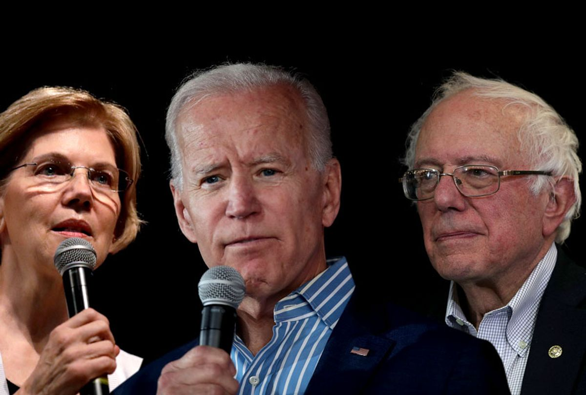 Elizabeth Warren; Joe Biden; Bernie Sanders (AP/Getty)