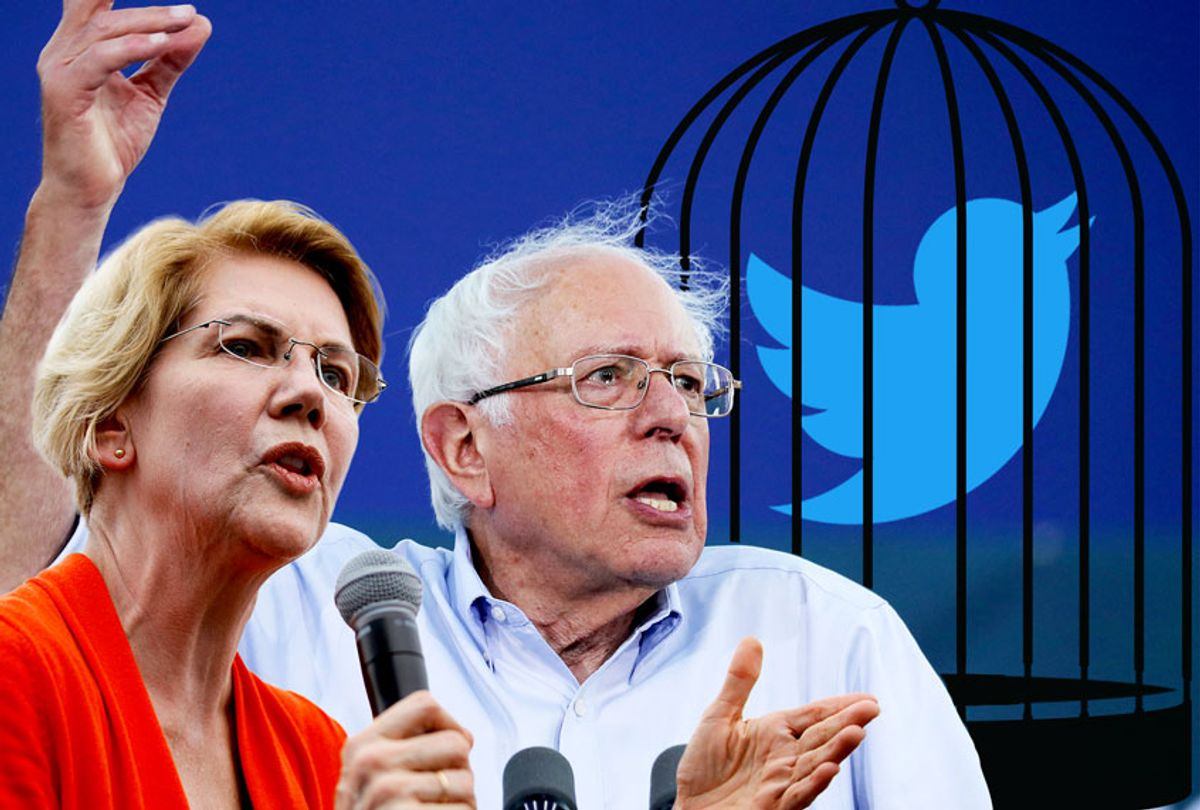 Bernie Sanders and Elizabeth Warren (AP Photo/Getty Images/Salon)
