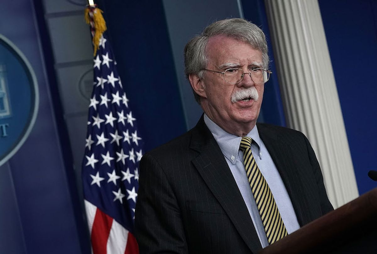 National Security Adviser John Bolton speaks during a White House news briefing at the James Brady Press Briefing Room of the White House October 3, 2018 in Washington, DC. (Getty Images/Alex Wong)