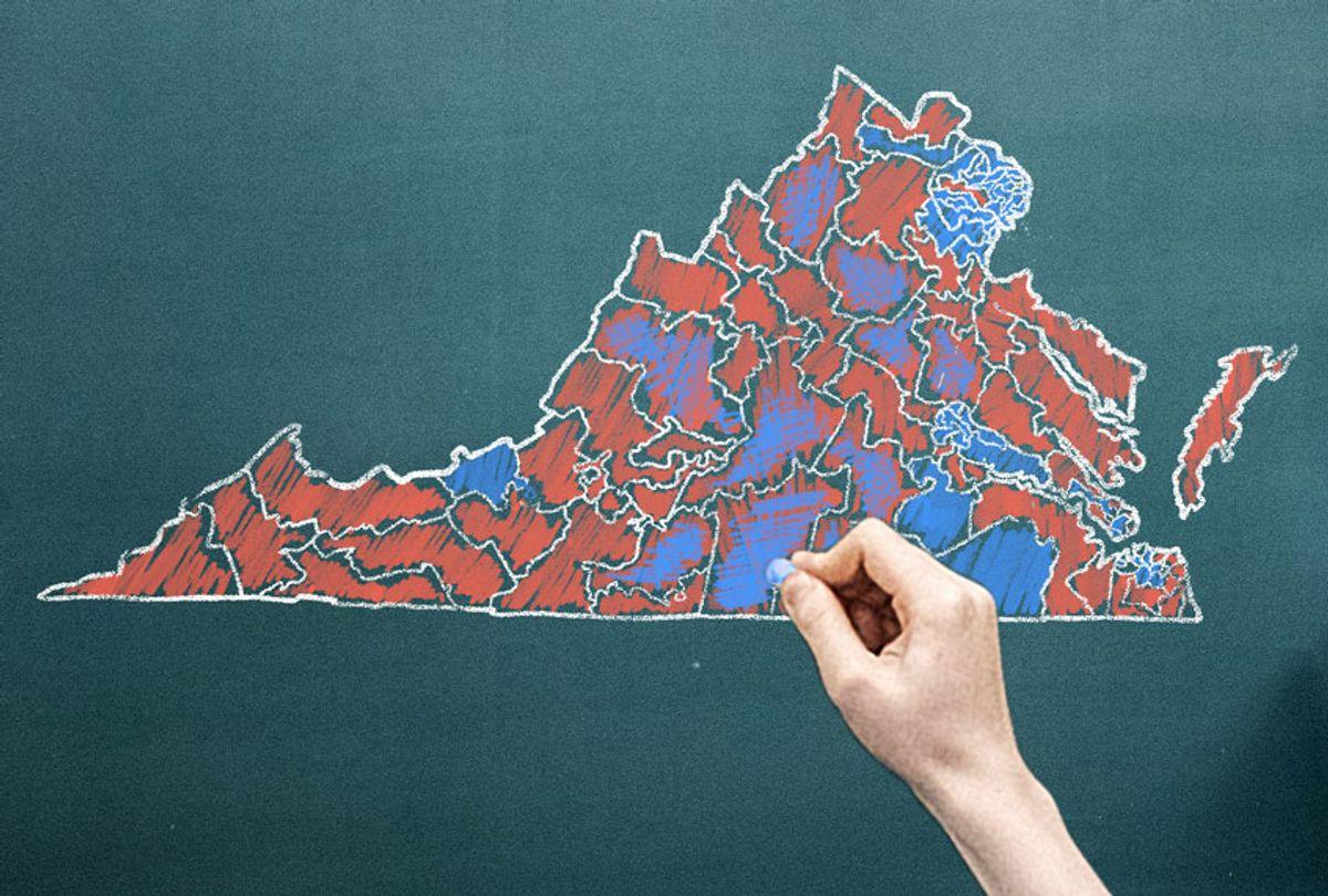 Virginia Legislative District Map (Salon/Ilana Lidagoster)