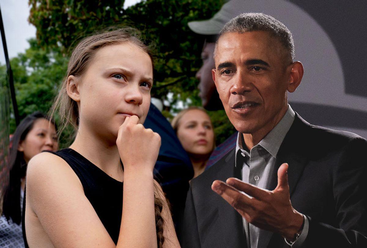 Swedish activist Greta Thunberg and Former U.S. President Barack Obama (Sean Gallup/Getty Images/AP Photo/J. Scott Applewhite)