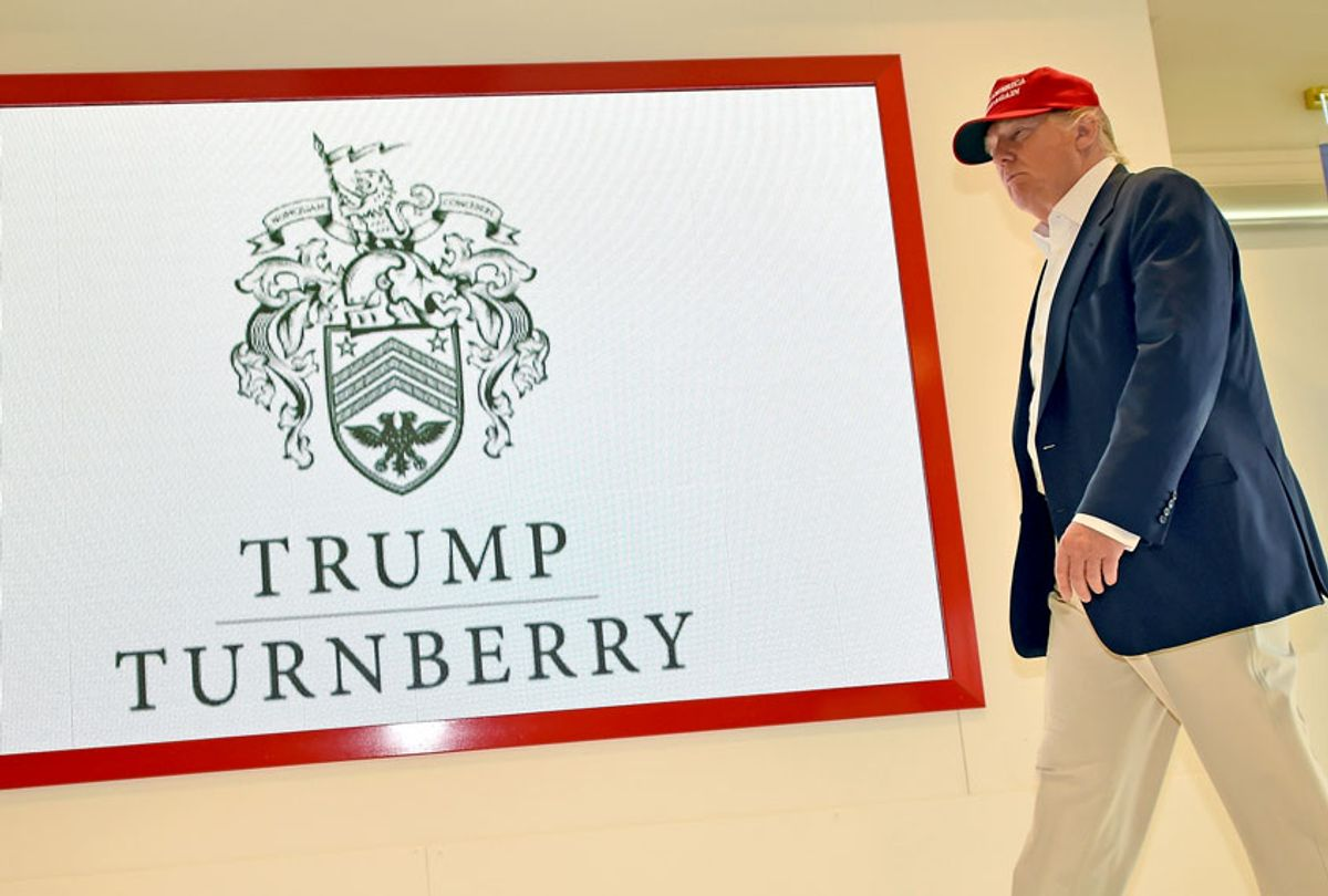 Donald Trump visits his Scottish golf course Turnberry (Jeff J Mitchell/Getty Images)
