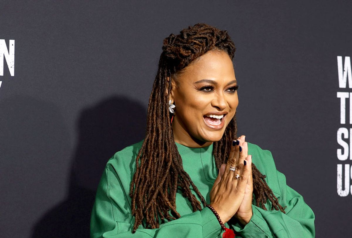 """Ava Duvernay attends the """"When They See Us"""" FYC screening at Paramount studios on Sunday, Aug. 11, 2019 in Los Angeles. (Mark Von Holden/Invision/AP)"""