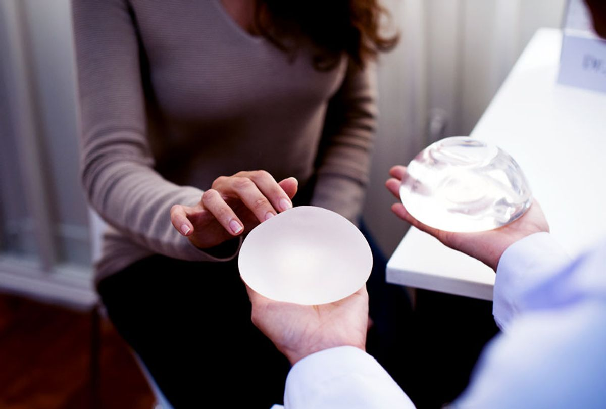 Woman planning to have a breast implant (Getty Images)