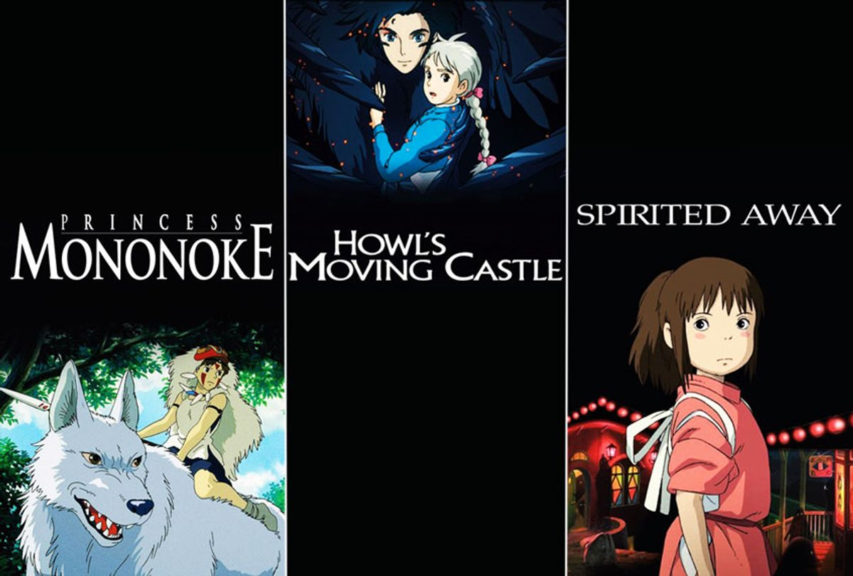 "Studio Ghibli's ""Princess Mononoke"", ""Howl's Moving Castle"" and ""Spirited Away"" (Studio Ghibli)"